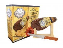 Mini Jamon Serrano + Support + Knife ~ 1KG